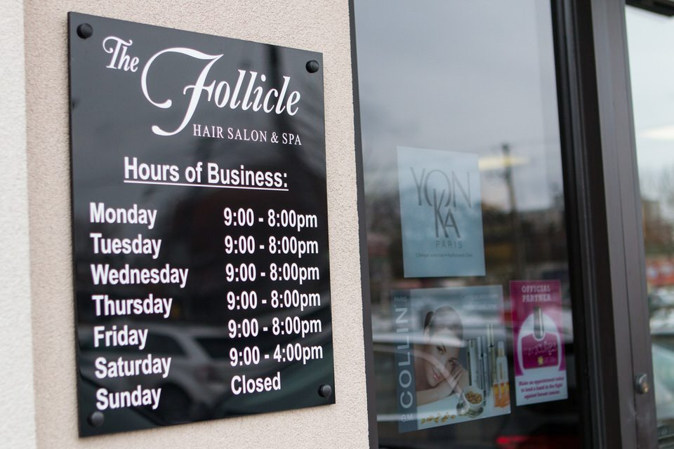 Our Hours of operation.
